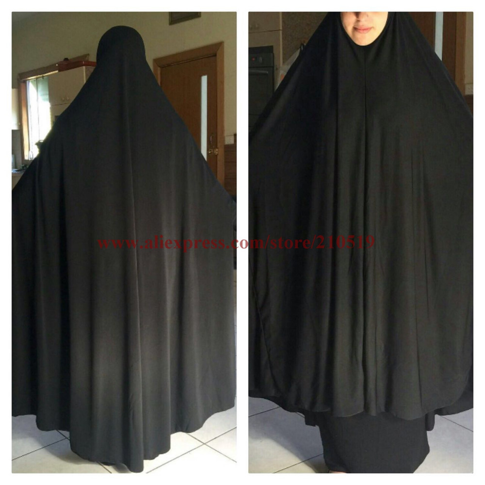 5stars Clearance Sale Popular oversize Plain muslim prayer Clothing big size hijab Khimmar Long Khimars with sleeves