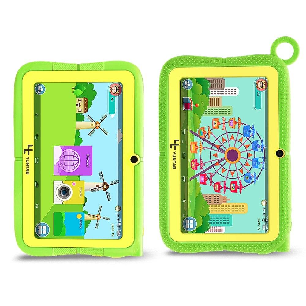 YUNTAB 7 pouces Q88R 4 couleurs enfants tablette PC Android 4.4 HD 1024*600 affichage, contrôle Parental logiciel iWawa avec étui Chic