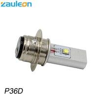 Zauleon 1 шт. p36d bpf 6 В 12 В DC LED Двигатель цикл фар 20 Вт 970lm белый для Винтаж двигатель скутер p36d лампы светодиодные фары