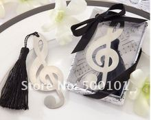 100PCS/LOT wedding favor party gift musical symbol bookmark baby gift, with tassel festival Christmas