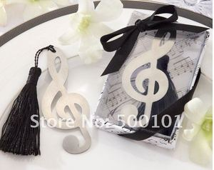 100PCS/LOT musical symbol bookmark baby wedding favor party gift with tassel festival Christmas