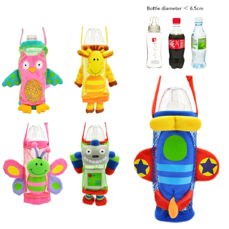 Baby feeding bottle cover bags kids mesh water bottle pockets with adjustable strap thermal bag for feeding bottles baby
