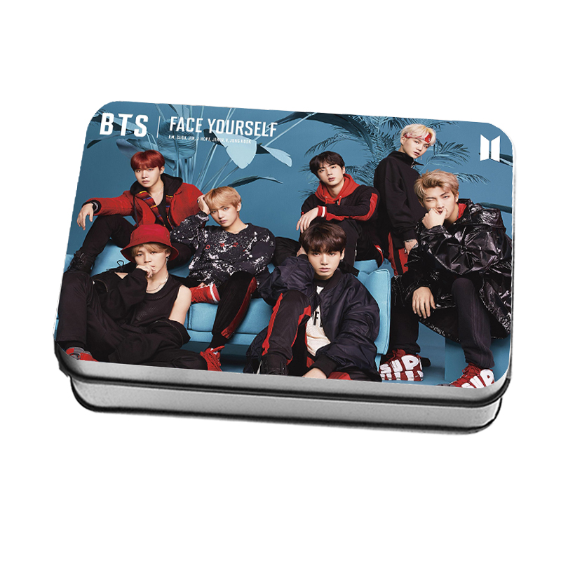 MYKPOP]BTS FACE YOURSELF New Photo Card K-POP Paper Cards HD Photocard Fans Collection 40pcs/set in Tin Box SA18042807