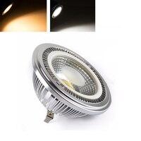 אמיתי AC12V 12 W זרקור COB AR111 led אורות מקום הנורה מנורת הלוגן 144 W שווה ערך 1320lm טבע חם טהור לבן 20 יח'\אריזה