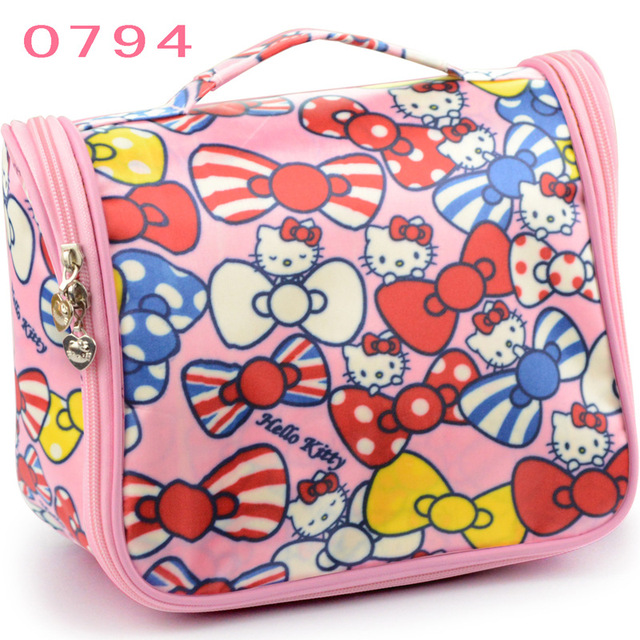 6d3eeb78fc Hello Kitty Cosmetic Bag For Make Up Oxford Waterproof Travel Washing Bag  Storage Bag Beauty Case For Cosmetics Wholesale Price