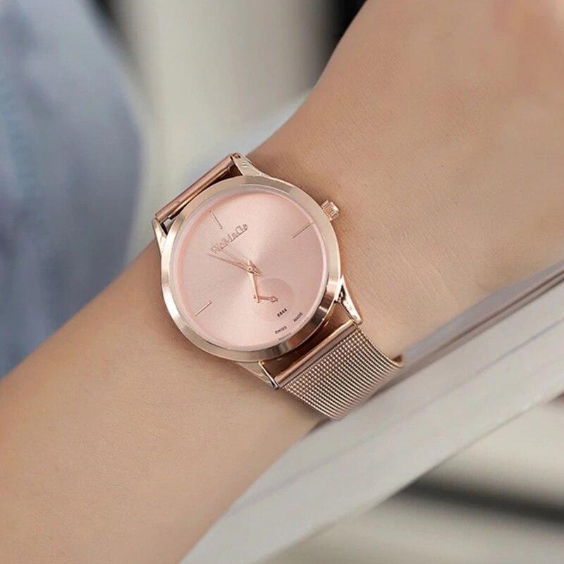Fashion Alloy Belt Mesh Watches Unisex Women Watches Casual Couple Quartz Wristwatch Relogio Feminino Saat Watches For Women
