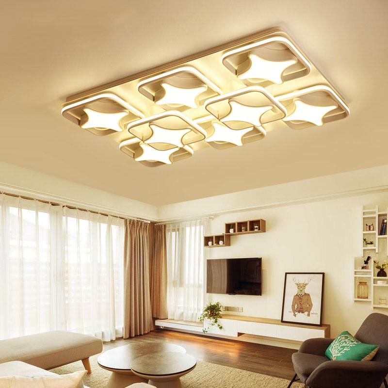 Post Modern LED Ceiling Lights Surface Mounted Iron Lihgts Rectangular  Creative Minimalist Living Room Bedroom LED ...