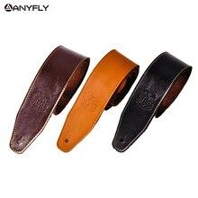 兵士本物の牛革牛革ソフト耐久性のあるギターストラップアコースティックギターストラップ低音ストラップ調節可能なギターベルト