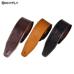 Soldier Genuine Cow Leather Cowhide Soft Durable Guitar Strap Acoustic Electric Guitar Strap Bass Strap Adjustable Guitar Belt