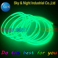 GRASS GREEN NEW 50M/lot 3.2MM SKIRT wire/Welted Wire/EL wire + High brightness