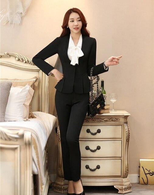 Preferenza Eleganti per Donna Pant Abiti per Le Donne D'affari Vestiti con  DK17