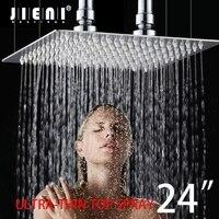 24 дюймов ультра тонкий дождь душевая головка из нержавеющей стали ванная комната 24 ванная комната квадратный дождевой воды спрей кран смес