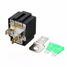 цена на 1X Automotive Fused Relay On/Off DC 12V 30A Car Auto 4 Pins Normally Open Contacts Fuse Relay With Bracket