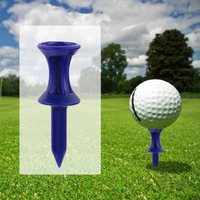 100 pcs גולף טיז פלסטיק גולף נייל סיכת גבול חיצוני ספורט גאדג 'ט כחול 36mm אורך גולף טיז גולף עזרי הדרכה אביזרים