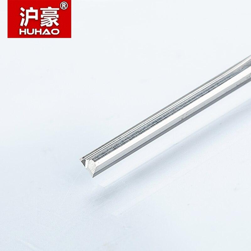 HUHAO 1 шт. 3,175 мм две флейты прямые фрезы для дерева CNC прямые гравировальные фрезы карбидные фрезы режущие фрезерные инструменты