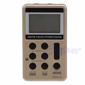 Image 1 - Mini Draagbare Am/Fm 2 Band Digitale Tuning Radio Stereo Receiver + Oortelefoon Dc 5V