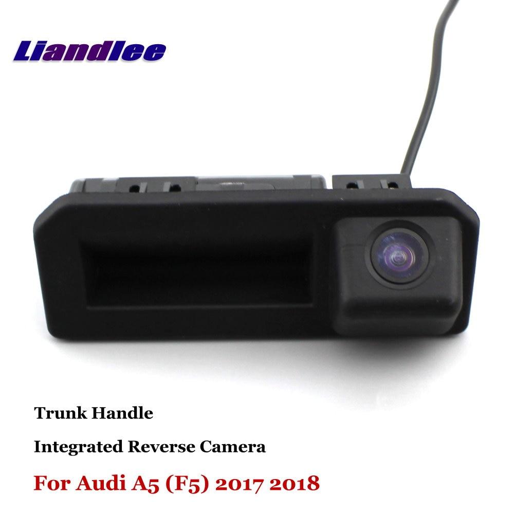 Liandlee pour Audi A5 (F5) 2017 2018 caméra de recul de voiture caméra de recul Parking caméra de recul/poignée de coffre intégrée