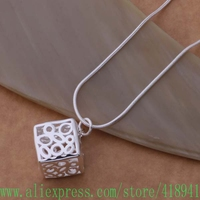 Free shipping silver plated Necklace silver fashion jewelry pendant /bxqakoxa bejajvqa AN696