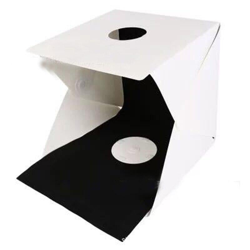 Mini Folding Lightbox Photography Studio Softbox LED Light Soft Box Camera Photo Background Box Lighting Tent Kit 100pcs/Lot