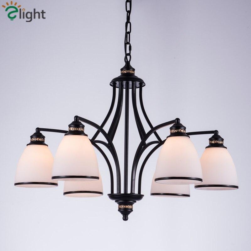 ღ Ƹ̵̡Ӝ̵̨̄Ʒ ღAmerican retro hierro LED colgante Candelabros luces ...