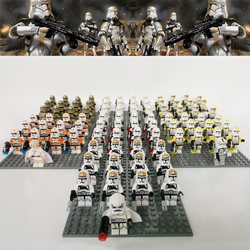 Star Wars Sw523 Airborne Clone Trooper Sith Death Trooper Imperial Snowtrooper Compatible Brick Blocks Kid Toys 13pcs