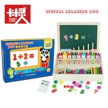 Teka-teki Magnetik Untuk Mainan Anak-anak Kotak Pembelajaran Digital anak-anak puzzle digital mainan belajar untuk Bayi kayu Matematika mainan sempoa alarm