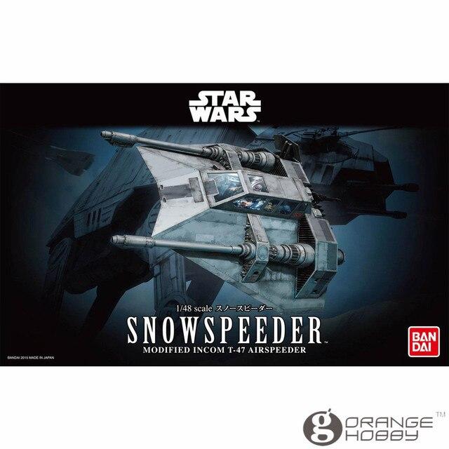 Ohs bandai sw 1/48 snowspeeder kits modelo de montagem