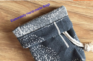 Image 3 - Happy Tree Linen Jewelry Drawstring Pouch 8x10cm 9x12cm 10x15cm 13x17cm Party Candy Jute Gift Packaging Bag