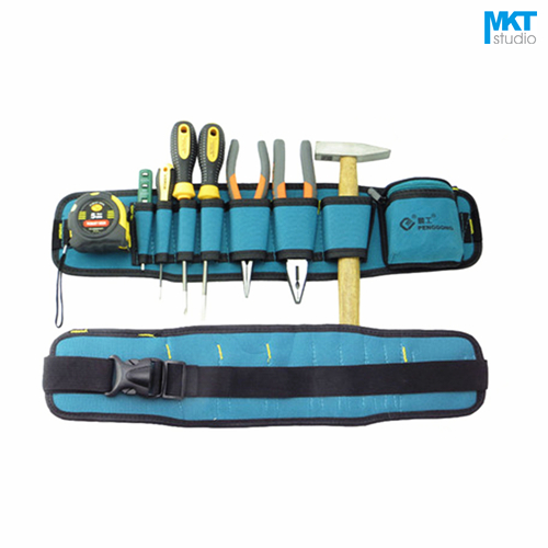 1Pcs Blue 53.5x13cm Oxford Cloth Durable Waterproof Tools Container Storage Waist Bag With Belt,Electrical Tools Bag