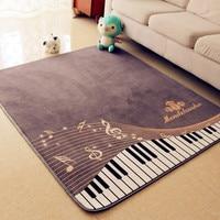 Piano Notes Carpets For Living Room Home Area Rugs For Bedroom Shelf Drum Floor Mat Cartoon Carpet Kids Room Anti Slip 130X150CM