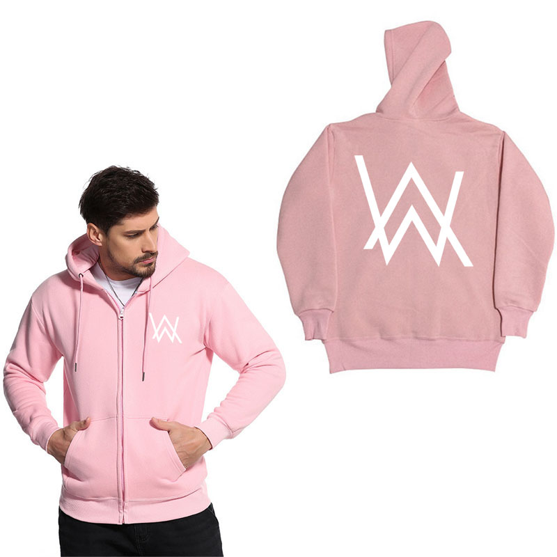 Fashion Zipper hoodie sweatshirt Music DJ Divine Alan Walker Faded Hoodies Sweatshirts M ...