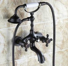 Bathtub Faucets Wall Mounted Oil Rubbed Bronze Faucet With Hand Shower Bathroom Bath ztf041