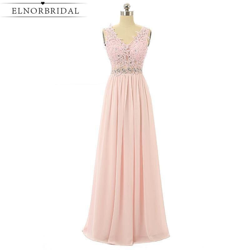 Blush Pink Bridesmaid Dress Long 2017 Cheap Lace Maid Of Honor Dresses Robe Demoiselle D'honneur A Line Wedding Guest Dress