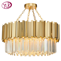 Youlaike Luxury Modern Crystal Chandelier For Living Room Luxury Gold Hanging Dining Room Lighting Fixtures