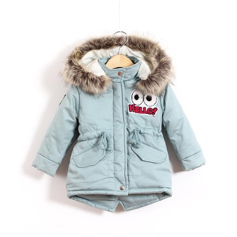 3-7Y Fashion Outerwear Baby Girls Cotton Hooded Coat Winter Jacket Kids Thicken Warm Suit Clothing Girl Snowsuit fashion girl thicken snowsuit winter jackets for girls children down coats outerwear warm hooded clothes big kids clothing gh236