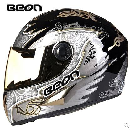 2016 black gold Angell BEON B-500 full face motorcycle helmet, motocross motorbike MOTO helmets for men/women M L XL moto m xt1663 gold