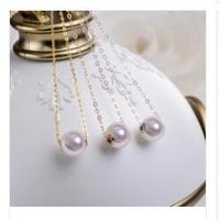 VB003 Top Quality 925 Sterling Silver Necklace Screw Single Pearl Necklace & Pendants For Women Fine Jewelry Collares
