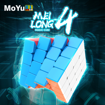 New MoYu cubing classroom Meilong 4x4x4 Magic Speed Cube Stickerless Professional Puzzle Cubes Educational Toys For Children new moyu cubing classroom meilong pyramid cube 3x3x3 stickerless magic speed cubes professional puzzle cubes education toys