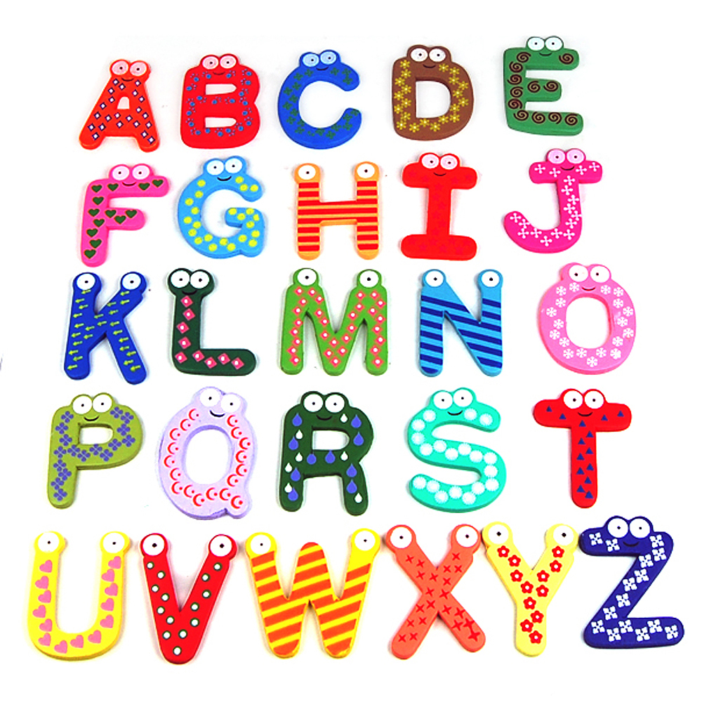 Colorful Kids Alphabet Numbers Fridge Magnet Child Educational Toy Cute Lovely