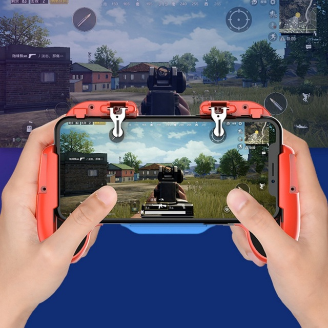 For PUBG Mobile Phone Gamepad Game Controller Joystick Cooling Fan Gamepads Ergonomic Design For SamSung iPhone Xiaomi