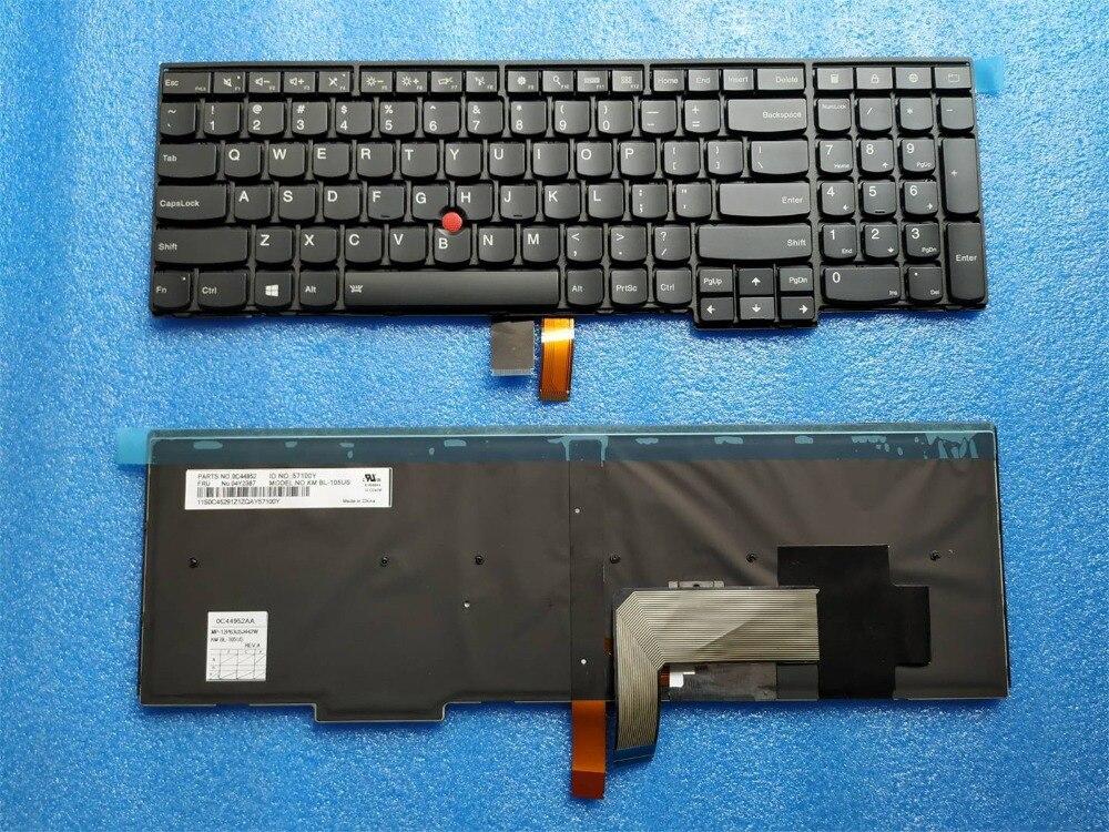 New Original pour Lenovo ThinkPad T540P W540 W541 T550 T560 W550S P50S US Clavier Rétro-Éclairé Rétroéclairage Anglais 04Y2387 04Y2465