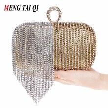 Damen Handtaschen Für Party 2017 Diamant Abendtaschen Luxus Frauen Kupplung Geldbörse Quaste Messenger Bags Ketten Umhängetaschen 3