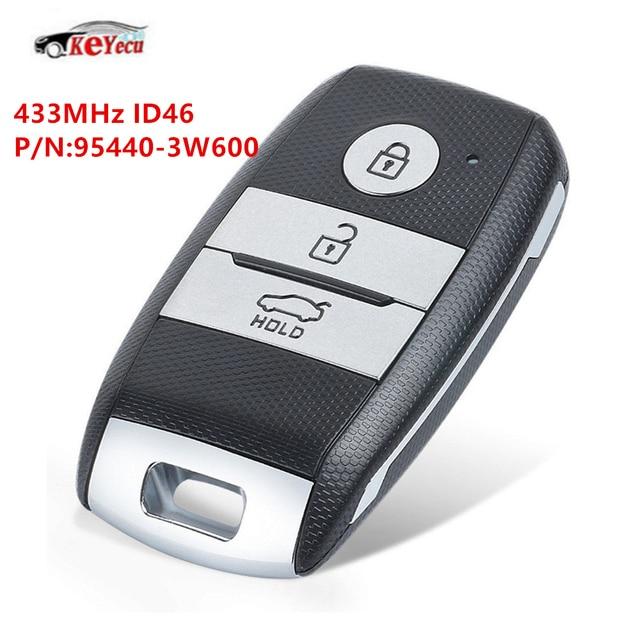 Keyecu New Smart Replacement Remote Car Key Fob 433mhz Id46 Chip For Kia Optima Sportage 2017 2016 Genuine Part No 95440 3w600