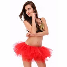 Buenos Ninos Fluffy 6 Layers Tulle Tutu Skirt Teenager Girl Mini Skirts Adult Petticoat Stunning Party Dance