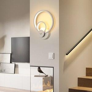 Image 3 - モダンなスタイルウォールライト寝室 led ウォールライトリビングルームの壁照明屋内ランプ温白色光とコールドホワイトライト