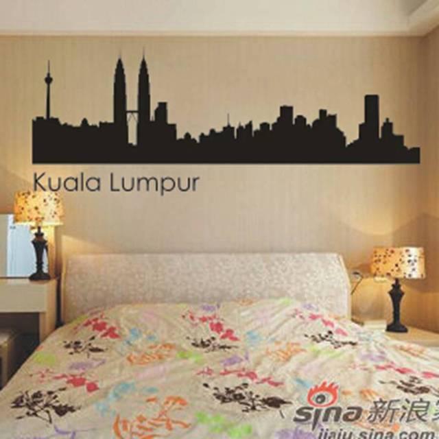 kuala lumpur city decal landmark skyline wall stickers decals poster