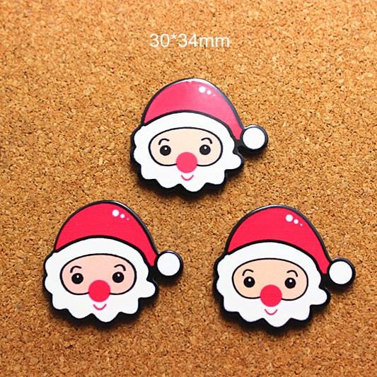10 Unids Kawaii Nueva Llegada Resina Dibujos Animados Santa Claus