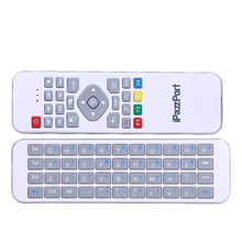 Ipazzport Mini White Russian/Arabic 2.4G Mini Wireless Keyboard For Smart TV Remote Control Air Mouse Gaming For Android PC