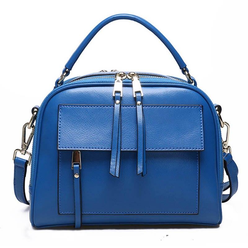 Genuine Leather Shoulder Bag Women With Pockets Designer Handbags High Quality Zipper Messenger S   2019 Brand