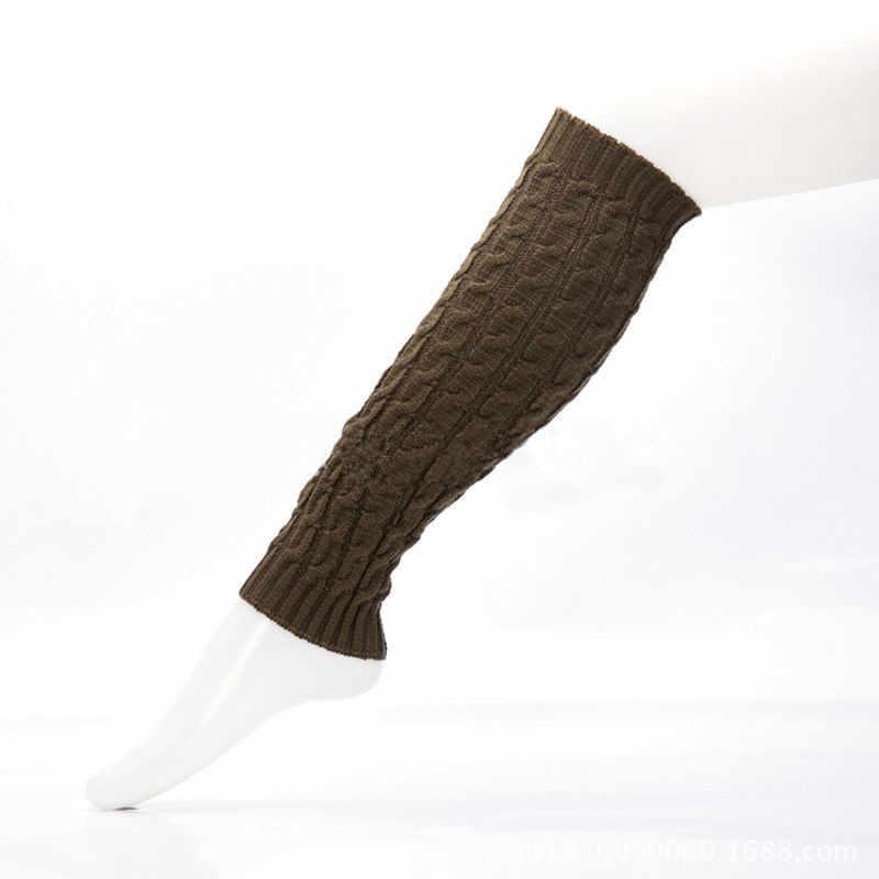 Delle donne di Alta Knit di Inverno Lungo di Alta Boot Calzini e Calzettoni Casual Solido Al Ginocchio Lavorato A Maglia Crochet Scaldamuscoli One Size 7 Colori Acrilici fiber